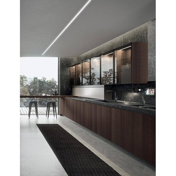 """Кухня """"Лофт Диамант"""" со шпонированными фасадами в Одессе"""