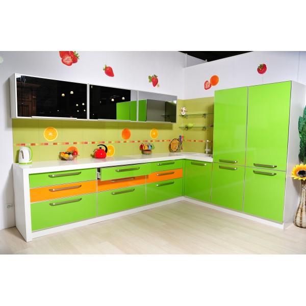 """Кухня пластик зеленая """"Green Aple"""" ..."""