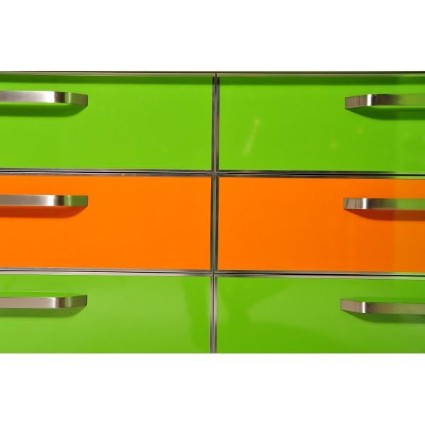 """Кухня пластик зеленая """"Green Aple"""" Pelilam HPL глянец столешница пластик"""