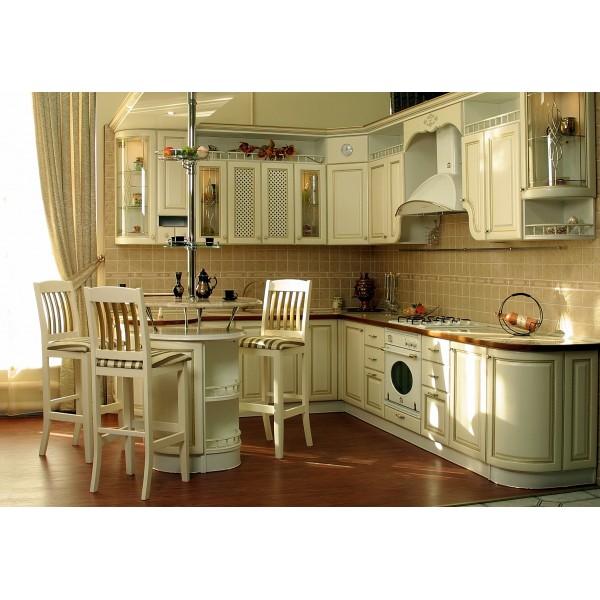 """Кухня белая  """"Прованс"""" с островом"""