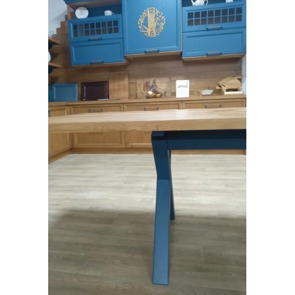 "Стол обеденный  ""Стол Х"" из массива дуба 2*1*0,78м"