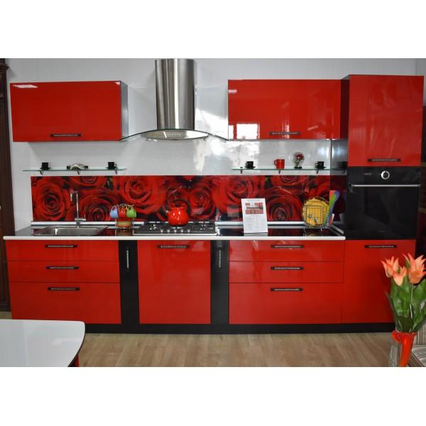 """Кухня """"Ferrary Rouse"""" пластик Армандо - покупай готовое решение"""