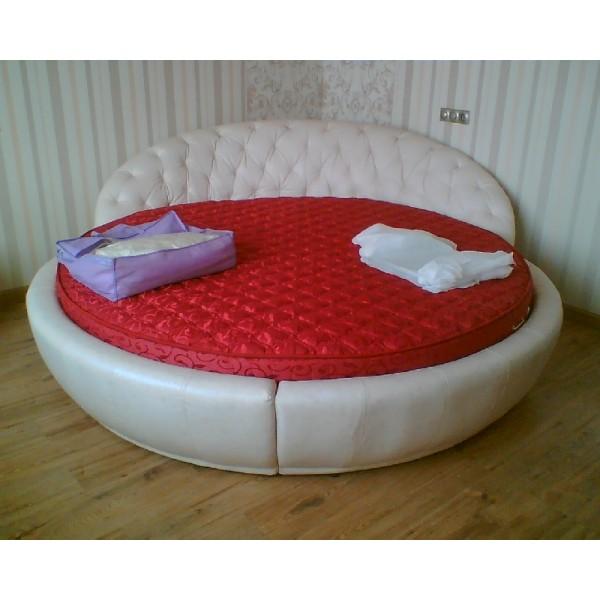 """Кровать """"Бартоломео"""" белая кожаная..."""