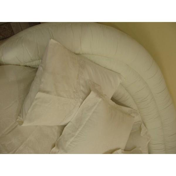 """Кровать """"Бартоломео"""" белая кожаная"""