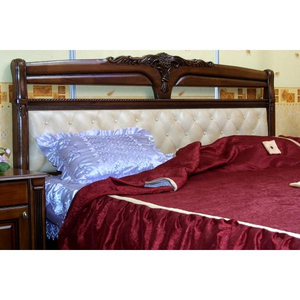 """Кровать """"Флория"""" резная спинка из дерева"""