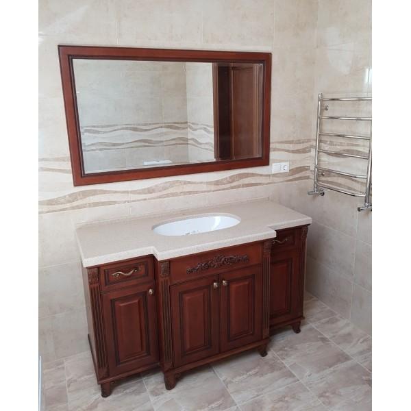 """Набор """"Жемчужина""""  орех в ванну тумба с  умывальником и зеркало в Одессе"""